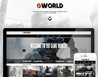 """GWORLD"" Gaming Web site template"