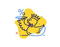Duck Icons Set