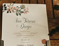 Papelaria casamento Ana Teresa & Diego