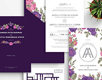 A & A Wedding Invitation