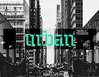 Urban – stencil font