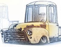 GMC Pickup Rat rod (1953)