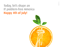 241st Independence Day Ad for Orange Crew