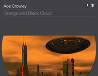 Orange and Black Cloud - by Aos Crowley.