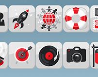 Icon set for mindsandmachines.com