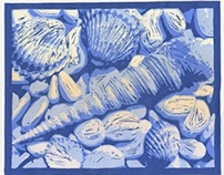 Nautical Relief Printmaking Series