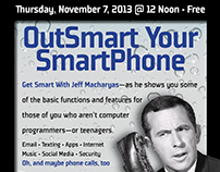 Poster for Smartphone Seminar at YMCA