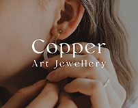 Copper art jewellery - Branding