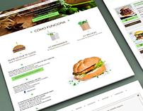 Graphic web design - Veganmarket
