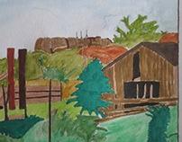 Abandoned farm building, Hermiston, OR