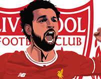Mo. Salah Liverpool FC Fans Art