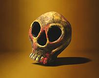 Clay sculpture / Skull