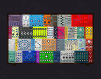 Modular Synth Wallpaper