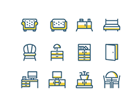 25+ Best Furniture, Interior & Decoration Icons