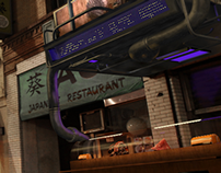 Cyberpunk Sushi Bar