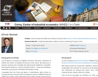 Mines ParisTech, Center of Industrial Economics