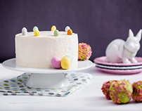 Easter lemon & rosewater cake