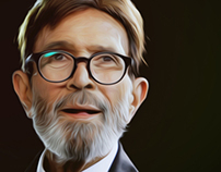 First Bollywood superstar Rajesh Khanna painting.