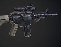 M4A1 - Game mesh