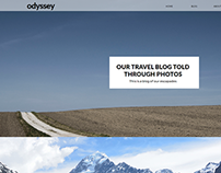 Odyssey Travel Blog Website Concept
