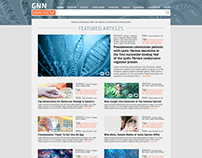 Genetics News and Research Website Design