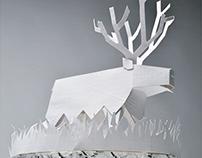 Winter Deer Holiday Decoration