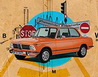 BMW 2002 Tii (Digital Collage 2016)