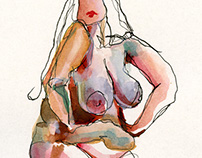 Watercolor Nudes