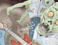 Rockaganda - Zombies poster blank and art print