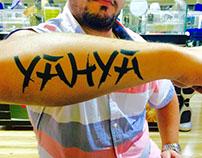 Airbrush Temporary Arabic Tattoos