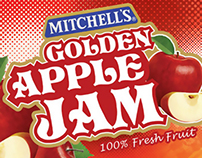 Mitchell's Fruit Jam Packaging