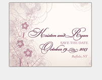 Kristen & Ryan, Save the Date Magnet