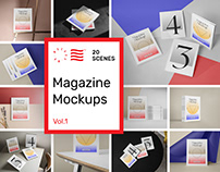 Magazine Mockups Vol. 1