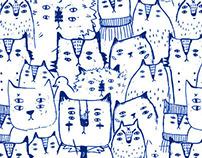 4 eye cat =_= pattern