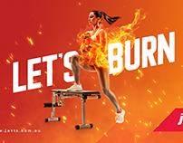 Social Media - Jett's - Let's Burn Calories