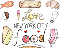 I Love New York City Food - Coloring Book