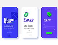 Mobile Application Onboarding UI Design