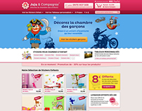 JujuetCompagnie.fr - Design of a wall stickers store