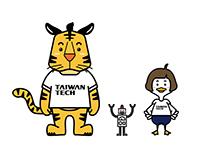 台灣科技大學吉祥物-蘿絲與坂守