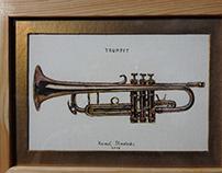Trumpet 11 x 17 cm Kamil Strzelecki