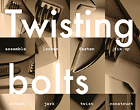 Twisting bolts poster