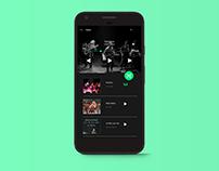 Daily UI Design #9: Music App UI Design.