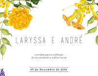 Wedding invitation (Laryssa e André)