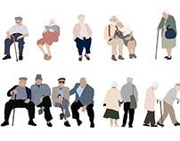 Elderly People Illustration Bundle4