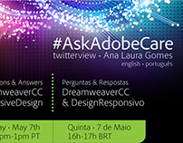 Promotional poster twitterview #AskAdobeCare