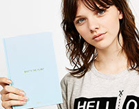 Agenda 2017 for Bershka Stationary Collection