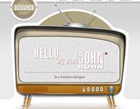 Old TV website template