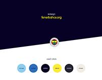 Fenerbahce - Redesign website