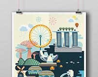 Singapore Impression Poster