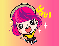 313 Animated Line Sticker - Carrie